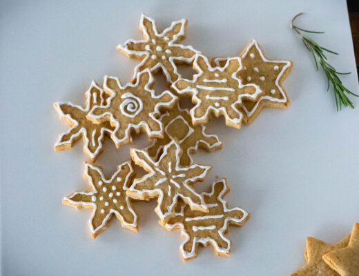 Schneeflocken Plätzchen Rezept Weihnachten